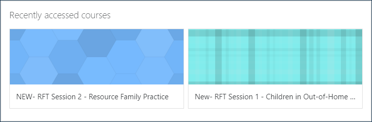 "Example ""Recently accessed courses"" dashboard block"